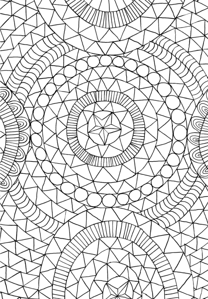 "Print and color this page from ""The Mindfulness Coloring Book: Anti-Stress Art Therapy for Busy People"" by Emma Farrarons. Courtesy The Experiment Publishing."